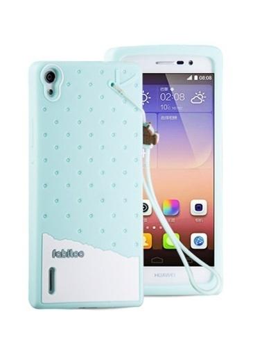 Fabitoo Huawei P7 Candy Kılıf  Turkuaz